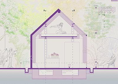 Mala montažna kuća u prirodi